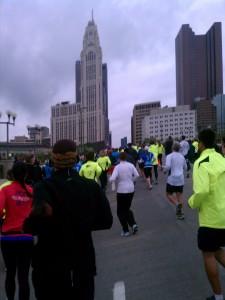 Action shot as we start up Broad Street