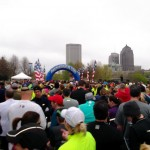 Crowd shot before the start of the Scioto Miles 10k