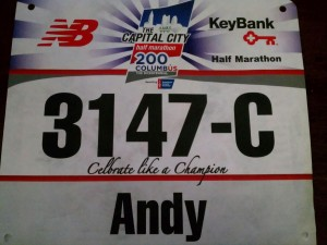 3147 Half Marathon Bib