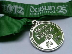 Dubln Irish Fest 5k 2012 medal