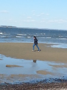 Running on a Maryland Beach